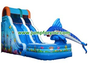 OIS1515 Dolphin Cheap Inflatable Slider For Sale