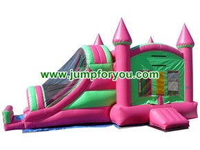 27FT Combo Pink Inflatable Castle