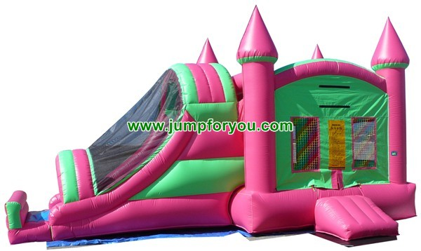 27FT Combo Pink Inflatable Castle For Sale