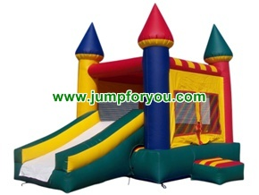 C1101 2 in 1 combo inflatable castle slide 13x21x14 for rent