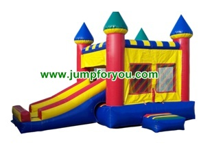 C1102 2 in 1 combo inflatable castle slide 13x21x14 for rent