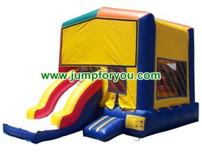 C1103 2 in 1 combo inflatable castle slide 13x21x14 for rent