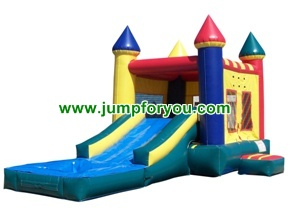 C1105 2 in 1 Inflatable Castle Water/Dry Slide