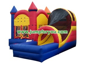 Combo bouncy castle inflatable slide 17x17x15 for rent