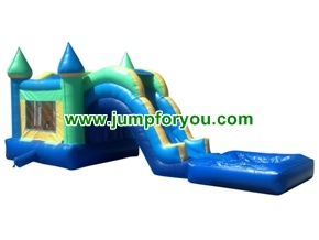 C1108 Combo Inflatable Castle Water/Dry Slide