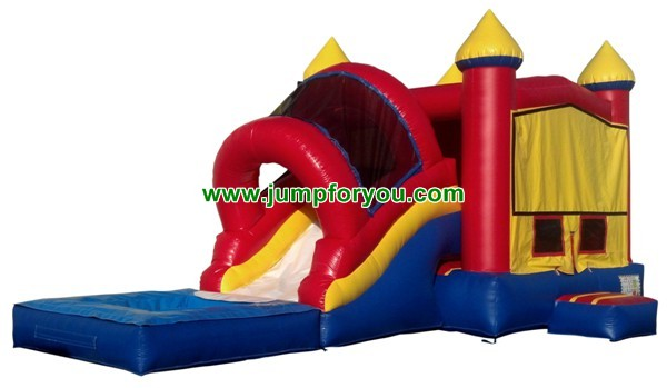 Inflatable Castle Water Slide Combo For Sale