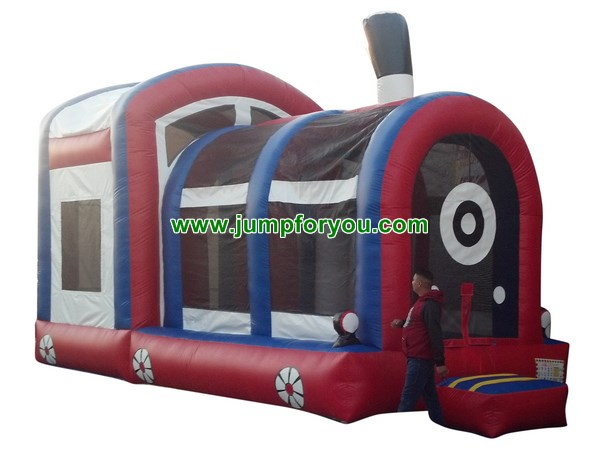 C1126 Red Train Inflatable Combo Jumper