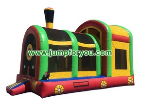 C1127 Green Train Inflatable Combo Jumper