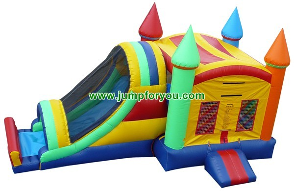 27FT Inflatable Rainbow Castle Combo For Sale