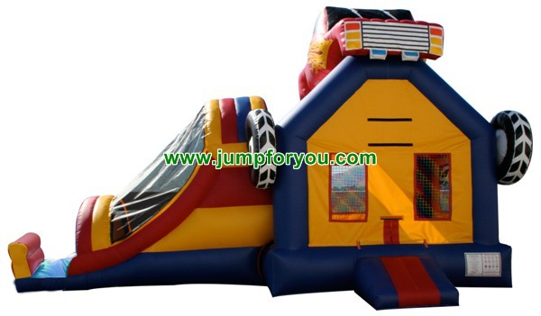27FT Inflatable Monster Truck Jumper Combo For Sale