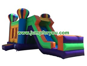 C491 Multicolor Balloons Bounce House Combo