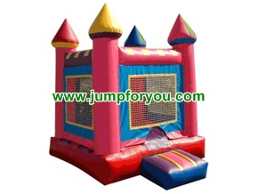 10x10 Pink/Red Inflatable Castle For Rent