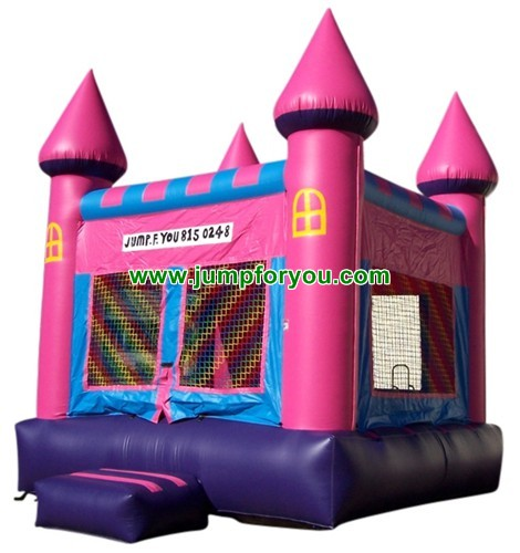 13x13 Pink Inflatable Castle For Sale