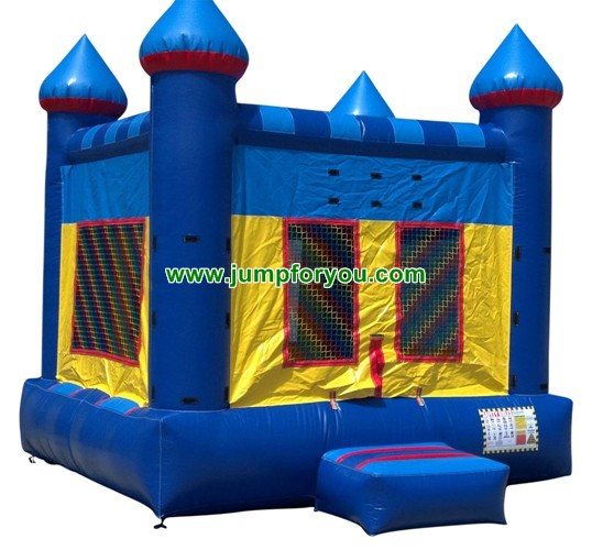 13x13 Blue Inflatable Castle For Sale