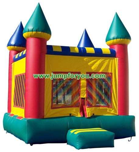 13x13 Green Inflatable Castle For Sale