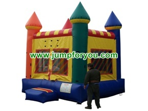 B1009 13x13 Multicolor Inflatable Castle