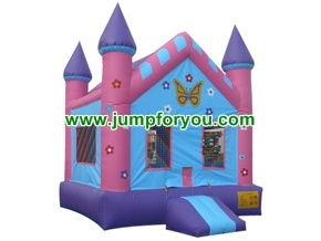 B103A 13x13 Castillo Inflable Mariposas