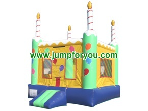B108A 13x13 Birthday Cake Inflatable Bouncer