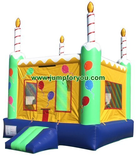13x13 Birthday Cake Inflatable Bouncer For Sale