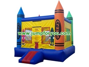 B109be 13x13 Crayons Inflatable Bouncer