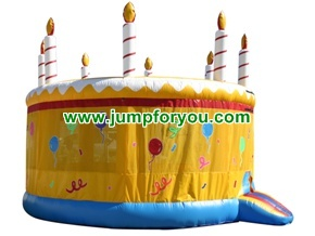 B138 Birthday Cake Inflatable Bouncer
