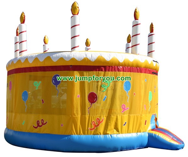 Birthday Cake Inflatable Bouncer For Sale