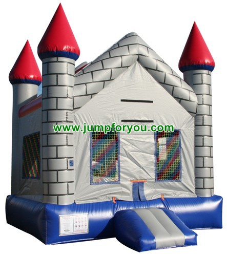 13x13 Gray Bricks Inflatable Castle For Sale