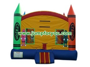 B156ae 13x13 Crayons Inflatable Castle