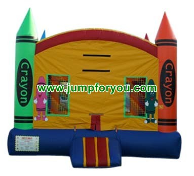 13x13 Crayons Inflatable Bouncer For Sale