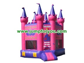 BH1011 Princess Pink Inflatable Castle
