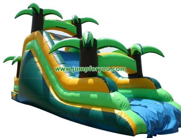 Tropical Inflatable Water Slide For Sale