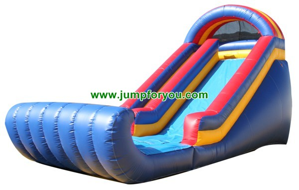 Blue Wave Inflatable Dry Slide For Sale