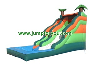 WS1410 23FT Palm Tree Inflatable Water Slide