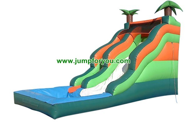 23FT Inflatable Palm Trees Water Slide For Sale