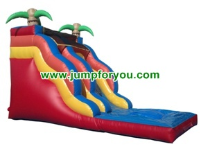 WS1411 23FT Palm Tree Inflatable Water Slide