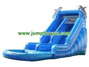 WS168a Blue Marble Inflatable Water Slide