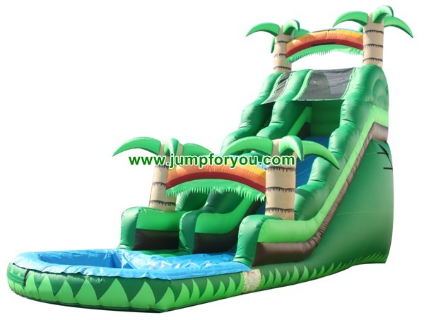 12Ft Tropical Inflatable Water Slide