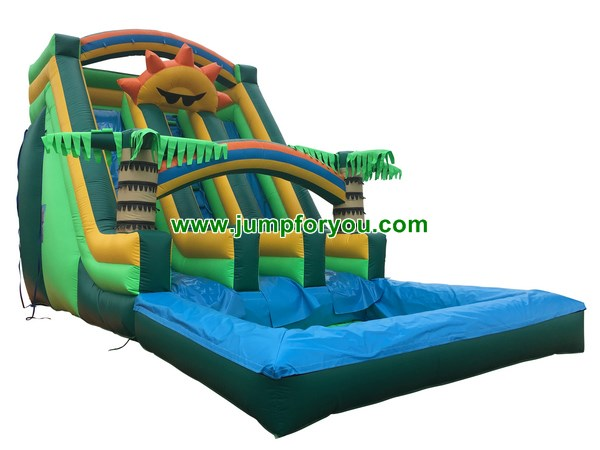 Sunshine Double Inflatable Water Slide