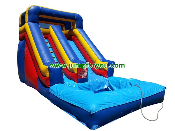 Blue Red Inflatable Water Slide