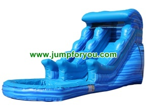 Blue Marble Inflatable Water Slide