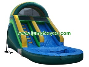 Green Giant Inflatable Water Slide