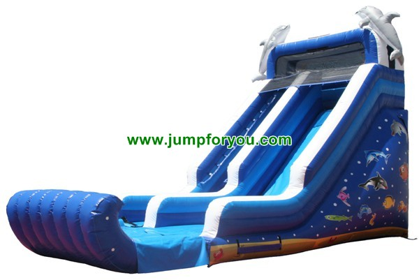 Dolphins Inflatable Dry Slide For Sale