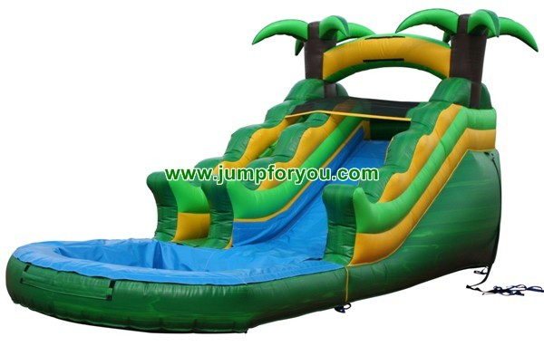 Tropical Inflatable Water Slide For Sale Commercial Slide