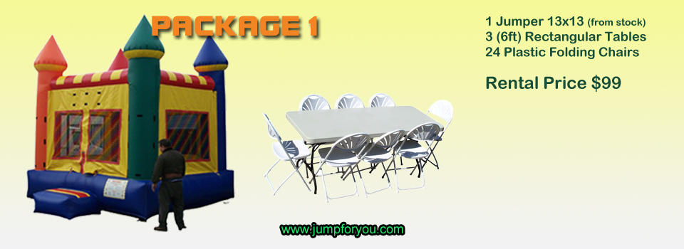 Bounce houses rentals package 1