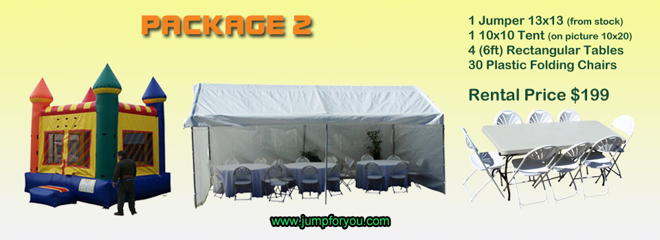 Bounce houses rentals package 2
