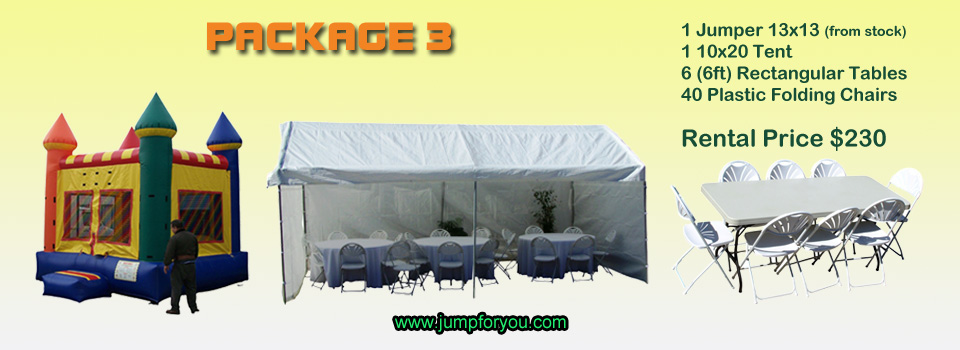Bounce houses rentals package 3