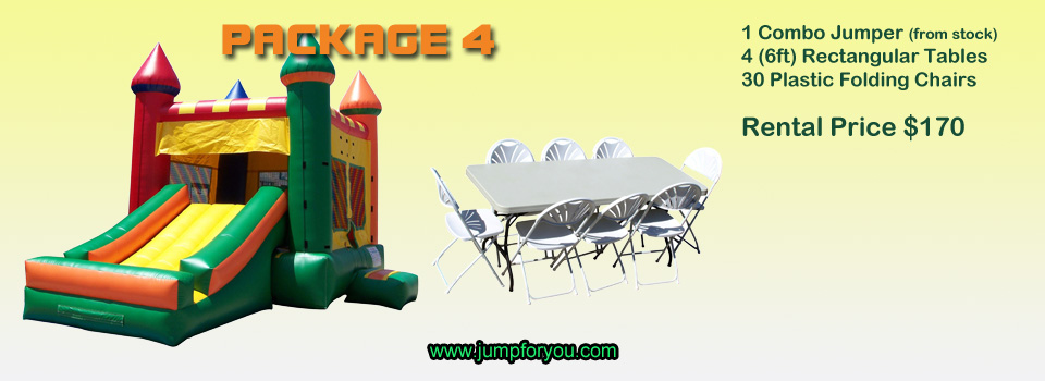 Bounce houses rentals package 4