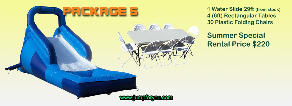 Bounce houses rentals package 5