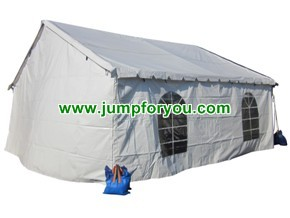 20x20 White Party Tent with Sidewalls and Clear Windows For Sale