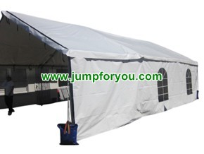 20x30 White Wedding Tent with Sidewalls and Clear Windows for sale